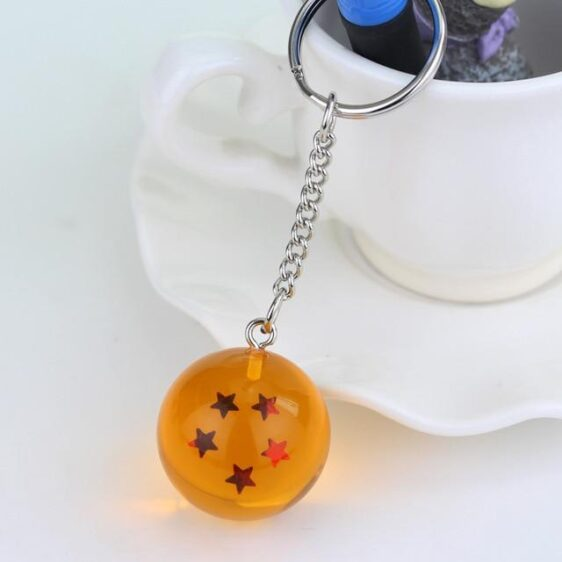 Dragon Ball Z Yellow Dragon Ball Eye-Catching Keychain