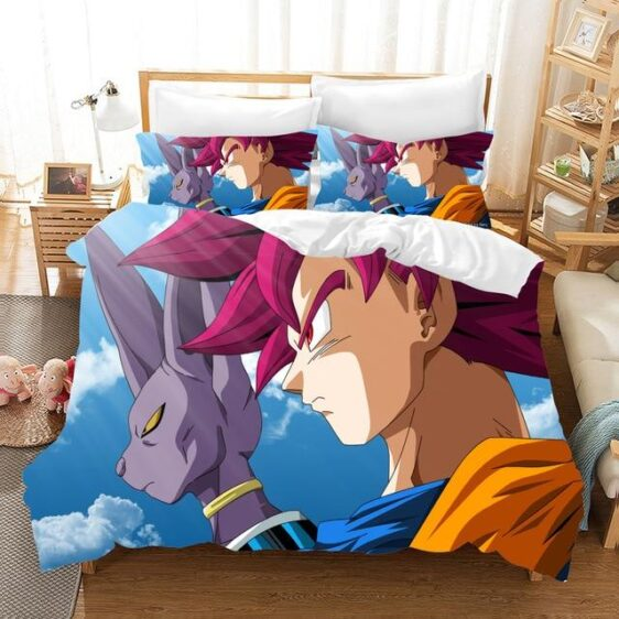 Super Saiyan God Goku With Lord Beerus Bedding Set