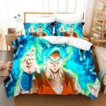 DBZ Son Goku Super Saiyan Blue Green Aura Bedding Set