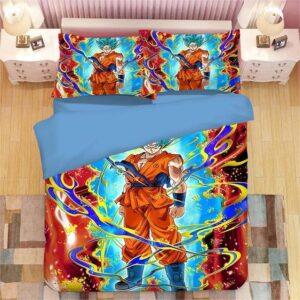 DBZ Resurrection F Powerful Son Goku SSGSS Bedding Set