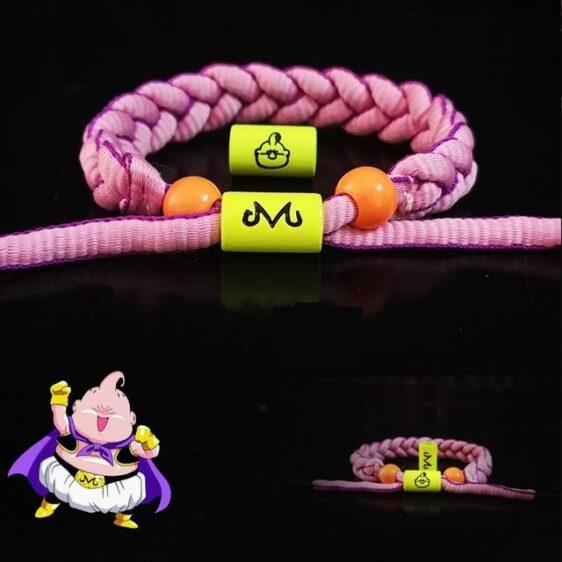 DBZ Innocent Majin Buu Pink Nylon Braided Bracelet