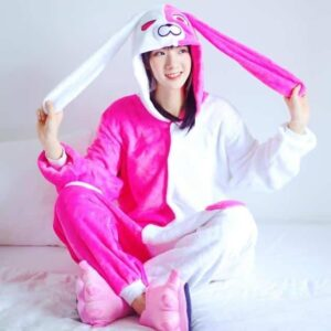 Cute Angela Onesie Long Ear Pink Hooded Kigurumi Pajama