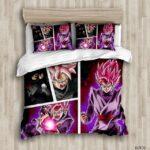 DBZ Zamasu Goku Black Rose Comic Style Bedding Set