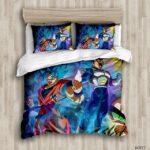 Fierce Son Goku And Vegeta Super Saiyan Blue Mode Bedding Sheet