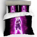 DBZ Goku Black Murderous Evil Purple Aura Bedding Set