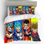 Super Saiyans Goku Vegeta Trunks & Gohan Bedding Set