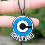 Dragon Ball Z Capsule Corp Logo Pendant Blue & White Necklace