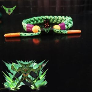 DBZ Villain Cell First Form Green Nylon Braided Bracelet