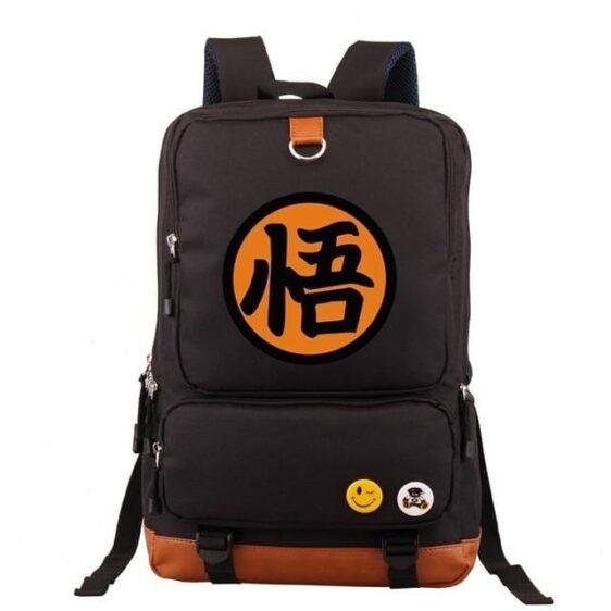 Son Goku Kanji Symbol Dragon Ball Z Oxford Backpack Bag
