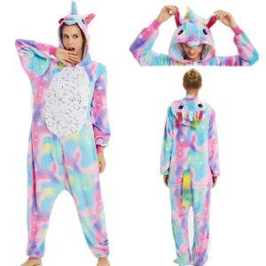 Unicorn Stylish Kigurumi Hooded Colorful Onesie Pajama