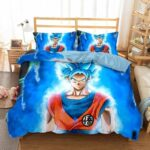 Son Goku Super Saiyan Blue Kanji Symbol Bedding Set