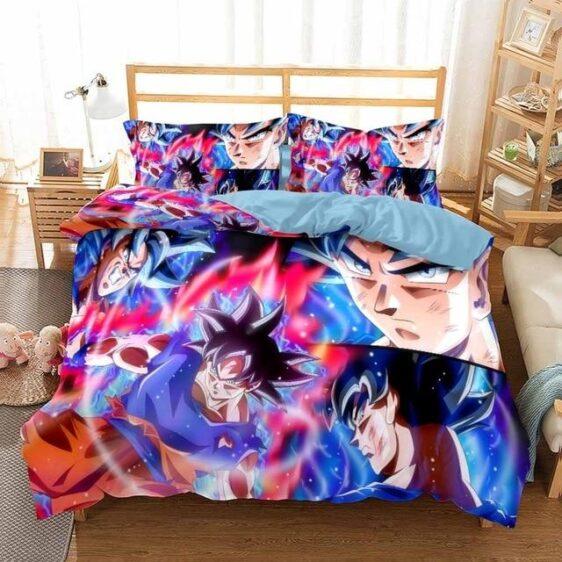 DBZ Son Goku Ultra Instinct Transformation Bedding Set