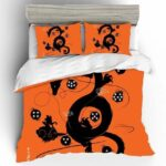 Shenron Goku & Dragon Balls Silhouette Orange Bedding Set