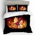Son Goku Vs Vegeta Super Saiyan Fiery Black Bedding Set