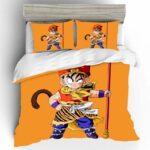 Dragon Ball Z Kid Gohan Sun Wukong Yellow Bedding Set