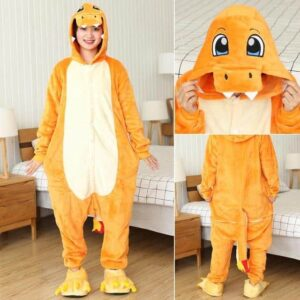 Charmander Pokemon Fire Type Kigurumi Onesie Pajama