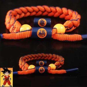Goku Kame Kanji Orange Blue Lining Nylon Braided Bracelet