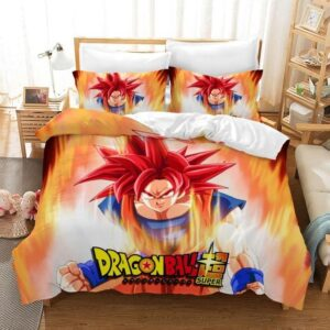 Dragon Ball Super Son Goku Super Saiyan Red Bedding Set