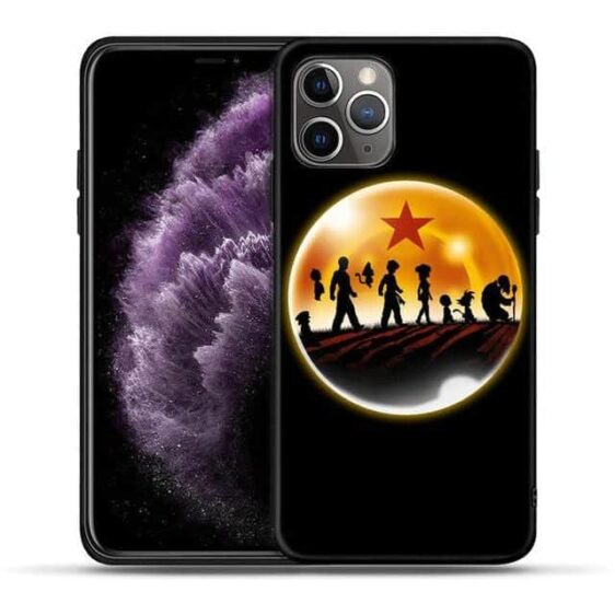 DBZ Characters Silhouette Black iPhone 11 (Pro & Pro Max) Case