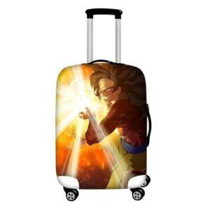 Grinning Super Saiyan 4 Goku Protective Suitcase Cover