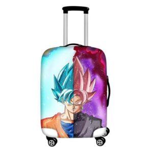 Half Son Goku Half Zamasu Suitcase Protective Cover