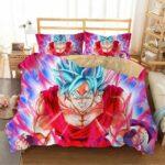 DBZ Ressurection F Enraged Goku SSGSS Form Bedding Set