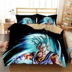 Vegito Super Saiyan Blue Fan Art Black Bedding Set
