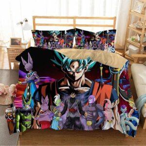 Son Goku Super Saiyan Blue With DBZ Villains Bedding Set