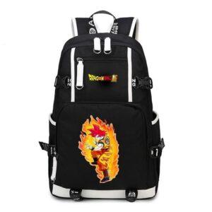 DBS Son Goku Super Saiyan God Fiery Aura Backpack Bag