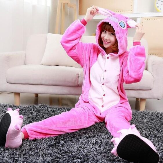 Angel Experiment 624 Pink Female Stitch Kigurumi Pajama