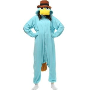 Blue Platypus With Brown Hat Kigurumi Onesie Pajama