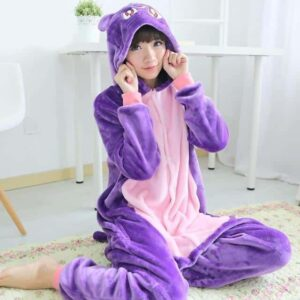 Sailor Moon Usagi's Cat Luna Kigurumi Purple Onesie Pajama