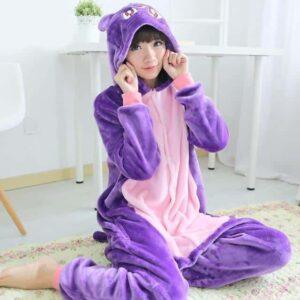 Sailor Moon Usagi's Cat Luna Kigurumi Purple Onesie Pajama