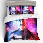 Son Goku Ultra Instinct And Jiren Vibrant Bedding Set