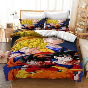DBZ Son Goku Character Transformation Bedding Set