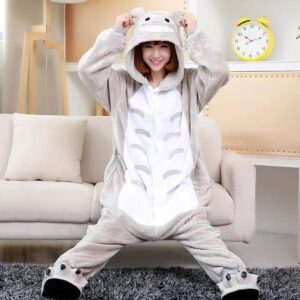 Cute My Neighbor Totoro Inspired Gray Kigurumi Pajama