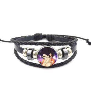 Dragon Ball Z Gogeta Fierce Look Leather Braided Bracelet