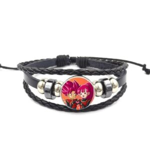 Dragon Ball Heroes Beat And Note Leather Braided Bracelet