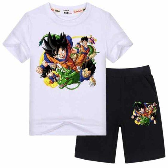 Goku Gohan Vegeta Majin Buu Trunks Shenron Kids Outfit Set
