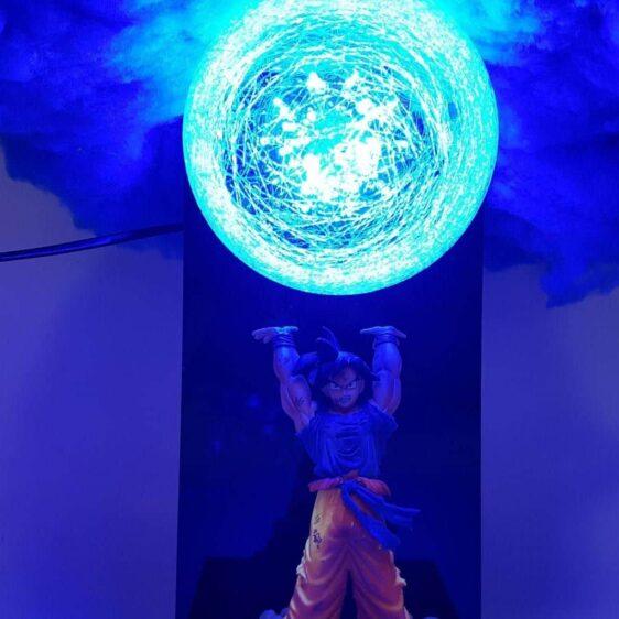 DBZ Son Goku Blue Cloud Spirit Bomb Flash Ball DIY 3D LED Light Lamp
