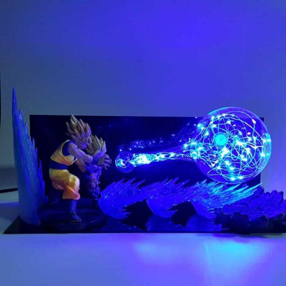 Super Saiyan Goku & Gohan Super Kamehameha Wave Flash Ball DIY 3D LED Light Lamp