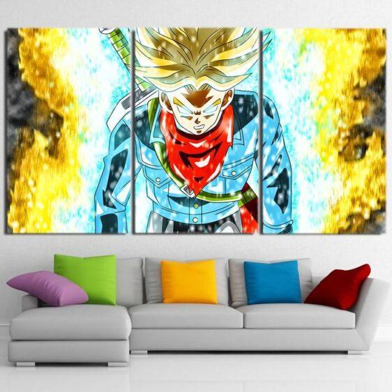 DBZ Trunks Super Saiyan God Blue Cool Design 3Pc Canvas Print