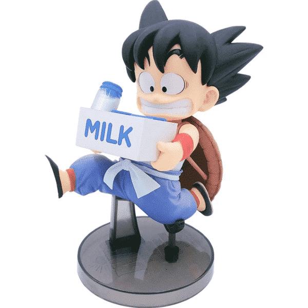 Running Kid Goku Holding Milk Action Figure