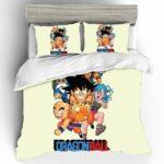 Cute Dragon Ball Anime Lead Characters Bedding Set