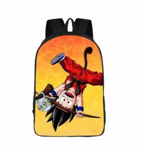 Cute Kid Goku Monkey Tail Style Design School Backpack Bag