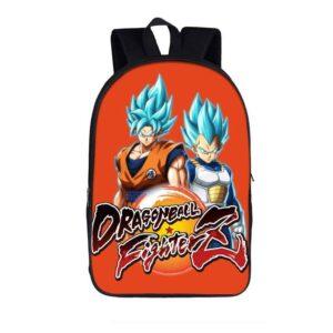 DBZ Blue-Haired Saiyan Dragon Fighterz Orange Backpack Bag