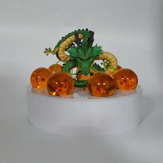 DBZ Green Shenron 1-7 Stars Dragon Balls Set White DIY 3D Light Lamp