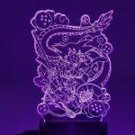 DBZ Kid Son Goku & Shenron Color Changing 3D Illusion Acrylic Lamp