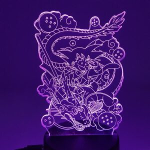 DBZ Kid Son Goku & Shenron Color Changing 3D Illusion Acrylic Lamp
