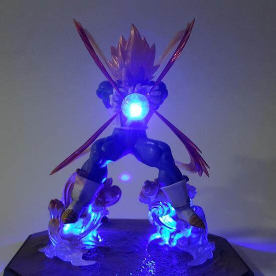 DBZ Vegeta Super Galick Gun Flash Ball DIY 3D LED Light Lamp